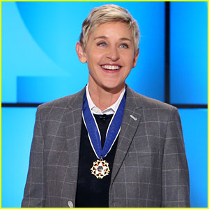 VIDEO: Ellen DeGeneres Talks Forgetting Her ID & Finally Getting to White House for Presidential Medal of Freedom!
