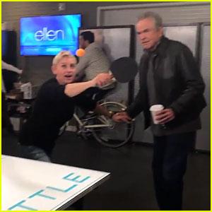 VIDEO: Ellen DeGeneres Does the Mannequin Challenge with Warren Beatty!