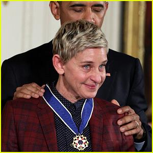 VIDEO: Ellen DeGeneres Tears Up During Presidential Medal of Freedom Ceremony
