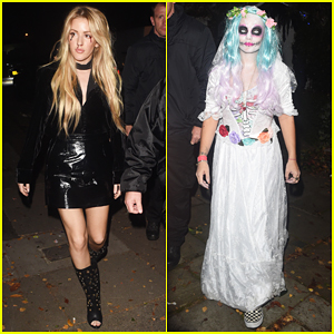 Ellie Goulding & Lily Allen Celebrate Halloween At Jonathan Ross Bash!