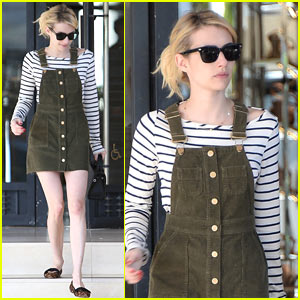 Emma Roberts Shares Behind-The-Scenes Pic of Her New Film 'Billionaire Boys Club'!