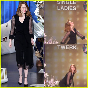 VIDEO: Emma Stone Twerks & Dances to 'Single Ladies' on 'Ellen'!