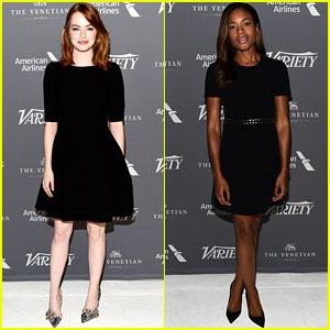 Emma Stone & Naomie Harris Bring Award Season Buzz to Variety Studio
