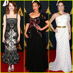 Oscars' Best Actress Front-Runners Emma Stone, Ruth Negga, & Amy Adams Attend Governors Awards!
