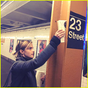 Emma Watson Hides Maya Angelou's Books Around NYC Subways After Trump Wins Election