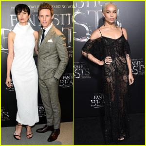 Eddie Redmayne & Katherine Waterston Premiere 'Fantastic Beasts' in New York!