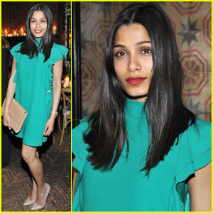Freida Pinto Steps Out in Style for Saks Avenue Dinner