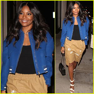 Gabrielle Union is Pretty in Blue at Kendall Jenner's 21st Birthday Party!