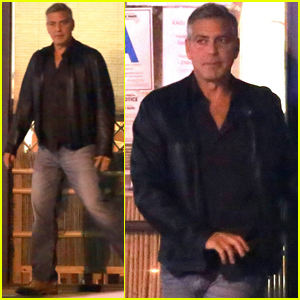 George Clooney Joins Friends for Sushi in Studio City