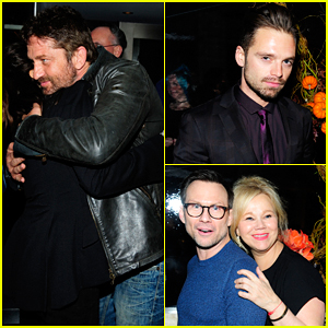 Gerard Butler & Sebastian Stan Celebrate 'Doctor Strange' with Benedict Cumberbatch At Screening After Party!