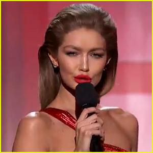 VIDEO: Gigi Hadid Impersonates Melania Trump During AMAs Opening Monologue!