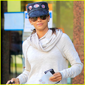 Halle Berry Wears Three 'I Voted' Stickers on Election Day!