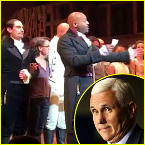 VIDEO: Mike Pence Attends 'Hamilton,' Cast Sends Him an Important Message After the Show