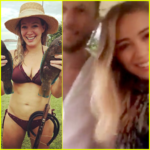 Hilary Duff Bares Amazing Body in a Bikini During Tropical Trip!