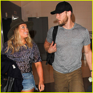 Hilary Duff & Boyfriend Jason Walsh Jet Out of Town Together