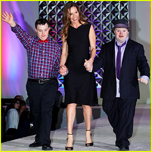 Hilary Swank Walks the Runway at Global Down Syndrome Foundation Fashion Show