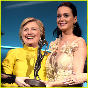 VIDEO: Hillary Clinton Honors Katy Perry with Humanitarian Award During Surprise Appearance!