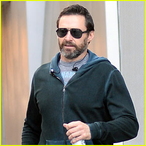 Hugh Jackman Shares Scruffy Selfie in the Woods!