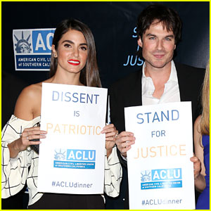 Nikki Reed & Ian Somerhalder Stand for Justice with ACLU