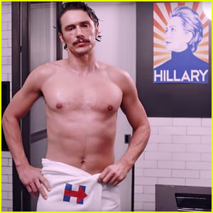 James Franco Wears Just a Towel in New Hillary Clinton PSA!