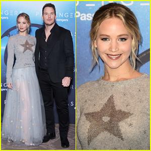Jennifer Lawrence & Chris Pratt Kick Off 'Passengers' Press Tour In Paris, Debut Imagine Dragons Theme Song 'Levitate'!