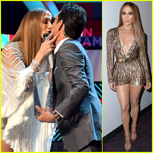 VIDEO: Jennifer Lopez Kisses Marc Anthony at Latin Grammys!