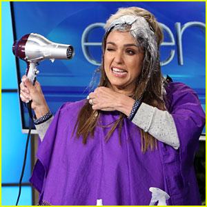 Jessica Alba Lets Ellen DeGeneres Style Her Hair on 'Ellen' - Watch Now!