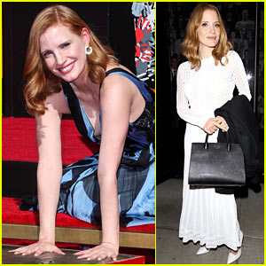 Jessica Chastain Honored at Hand & Footprint Ceremony at TCL Chinese Theatre