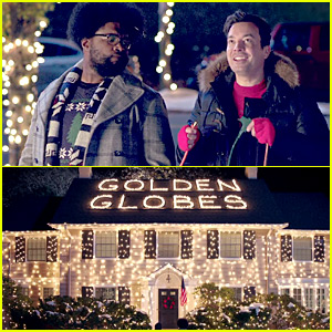 Jimmy Fallon Debuts Christmas-Themed Golden Globes Promo!