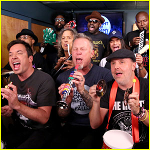 VIDEO: Jimmy Fallon, Metallica, & The Roots Sing 'Enter Sandman' with Classroom Instruments!