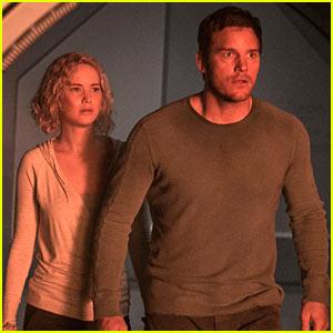 VIDEO: Jennifer Lawrence & Chris Pratt Fight for Their Lives in New 'Passengers' Trailer!