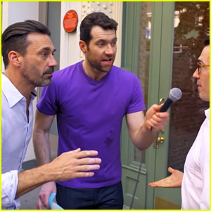 VIDEO: Jon Hamm & Billy Eichner Offer Threesomes to Random People on the Street!