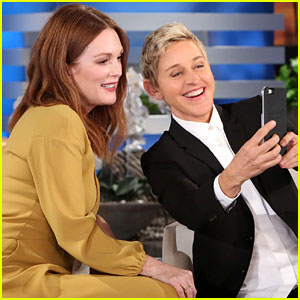 Ellen DeGeneres & Adam Levine Play Trick on Julianne Moore - Watch Now!
