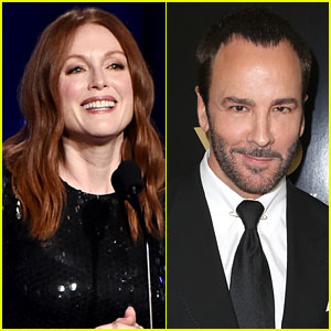 Julianne Moore Presents to Tom Ford at Hollywood Film Awards 2016