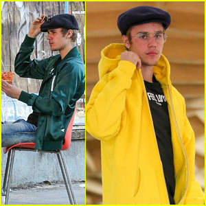 Justin Bieber Spends the Afternoon Grabbing Lunch with New Friends!
