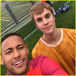 Justin Bieber Plays Soccer with Some of the Best in the World!