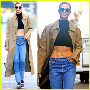 Karlie Kloss Shows Off Her Killer Abs in NYC!