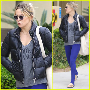 Kate Hudson Spends Her Day Hiking & Working Out