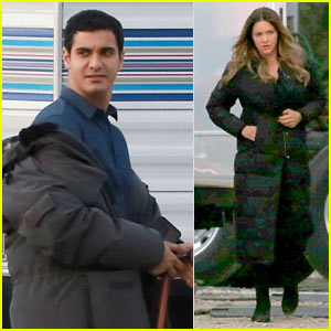 Katharine McPhee & Elyes Gabel Hit the Set of 'Scorpion' Season 3