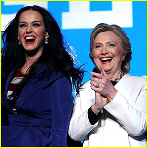 Katy Perry Says She's 'With Madame President' As She Campaigns with Hillary Clinton in Philadelphia!