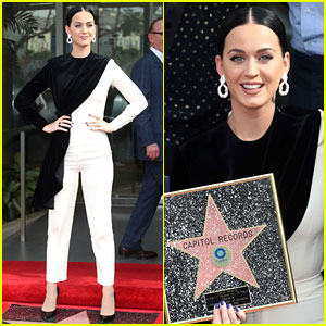 Katy Perry Presents Capitol Records with Star of Recognition!