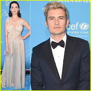 Katy Perry & Orlando Bloom Attend UNICEF's Snowflake Ball, Walk Carpet Separately!