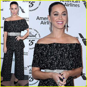 Katy Perry Stands On Stars for Capitol Records Celebration!