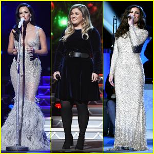 Kelly Clarkson, Kelsea Ballerini & Idina Menzel Represent The Ladies At CMA Country Christmas 2016!