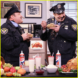 VIDEO: Kevin James & Jimmy Fallon Spit Thanksgiving Food At Each Other In 'Tonight Show' Sketch!