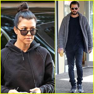 Kourtney Kardashian & Scott Disick Step Out Separately in LA