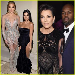 Kourtney & Khloe Kardashian Glam Up at Angel Ball with Mom Kris Jenner!