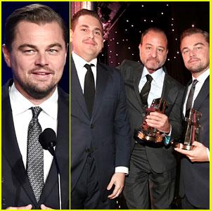 Leonardo DiCaprio Honored at Hollywood Film Awards 2016