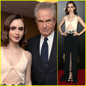 Lily Collins Presented with New Hollywood Award at Hollywood Film Awards 2016!