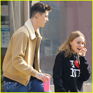 Lily-Rose Depp & Boyfriend Ash Stymest Step Out for Taco Date!